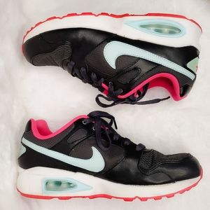 Nike Air Max Black, Aqua, & Pink Sneakers